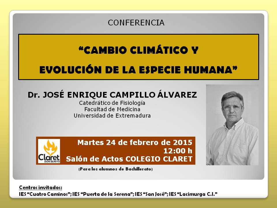 Cartel conferencia J.E.CAMPILLO 2015